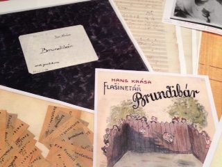 Artifacts from the children's operetta, Brundibár